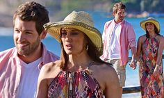 Georgie Parker gets cosy with Tim Ross while filming Home And...