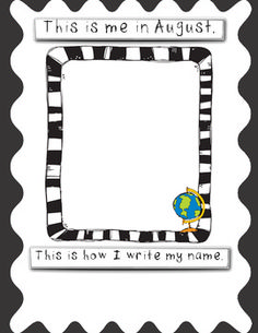 This freebie is to see the growth your kinders make during the year.  Students will write his or her name and draw a self-portrait each month.  I p...