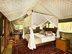 Zungulila Bushcamp, South Luangwa National Park, Zambia - Tour the World's Most Luxurious Bedrooms on HGTV
