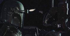 Boba Fett piloting Slave I.  #starwars #starwarsdaily #lucasfilm #disney #bobafett