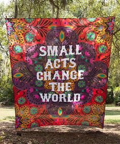 Loving this 'Small Acts' Tapestry on #zulily! #zulilyfinds