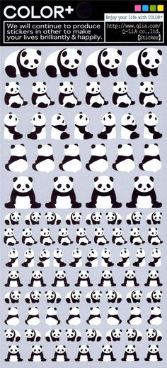 panda bear stickers by Q-Lia