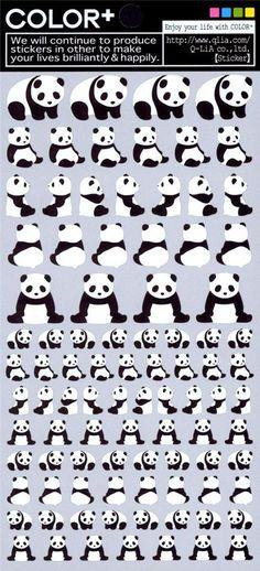 panda bear stickers by Q-Lia