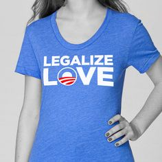 "American Apparel Women's Fitted ""Legalize Love"" Vintage Tee"