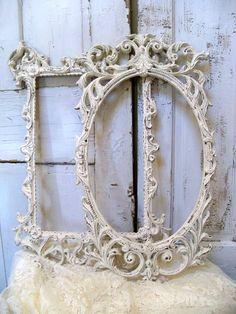 Vintage ornate frames off white Shabby cottage by AnitaSperoDesign, $185.00