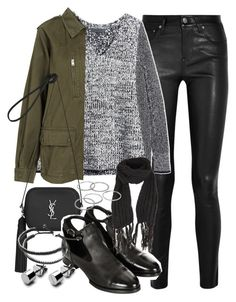 """""""Outfit for autumn"""" by ferned on Polyvore featuring Helmut Lang, rag & bone/JEAN, Yves Saint Laurent, Topshop, Apt. 9 and Links of London"""