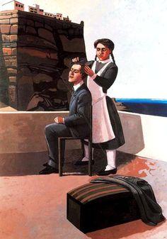 "Paula Rego ""Departure"", 1988 Acrylic on paper on canvas x cm Paula Rego Art, Painting Prints, Painting & Drawing, Dada Artists, Portuguese Culture, Fine Art, Couple Art, Sculpture, Figure Painting"