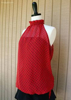 Joyful ruffle neck top by HowJoyful, via Flickr