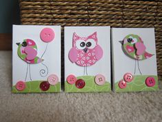 Children's Room Canvas Art MINIS Nursery by StephDillonDesigns, $18.00