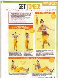 Get Toned Workout (Wednesday - 5wk countdown) - Seventeen Magazine