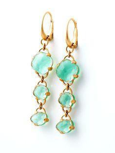 Pomellato Capri Chrysoprase Earrings - Pomellato 18KT Pink Gold Capri Chrysoprase Earrings
