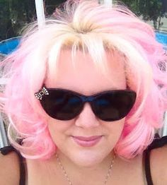 "My new summer ""do"" with the lighter shade of pink and blonde roots. #Pinkhair"