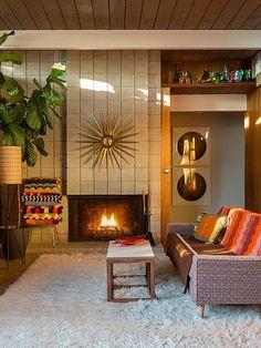 vintage-retro living room in San Francisco