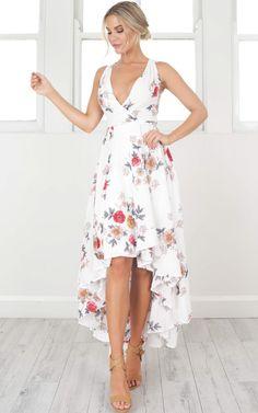 showpo dress, white floral dress, white dress, dress, white