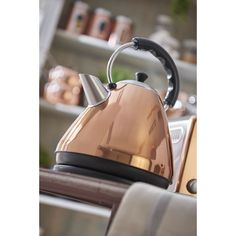 Copper Effect Kettle at wilko - Steel House, Copper Kitchen, Moving House, Rustic Industrial, Kitchenware, Kettle, Cleaning Wipes, Kitchen Appliances, Stainless Steel
