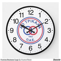 Custom Business Logo Large Clock How To Make Wall Clock, Large Clock, Business Logo, Create Your Own, Big Clocks