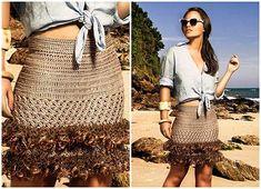 Saias Longas de Croche da Moda Feminina (Looks)