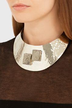 Anndra Neen|Py gold-tone pyrite choker|NET-A-PORTER.COM