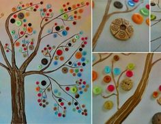 Button Tree Collage | Bring Spring to Your Walls With This 3-D Button Tree