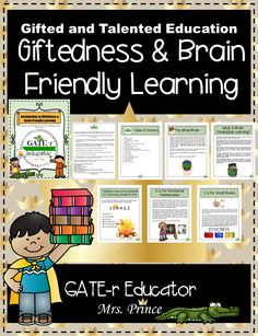 Brain-based teaching is all about understanding and utilizing more meaningful and efficient teaching strategies that can reach a greater number of students. Using the mnemonic device FLAMES to remind you how to successfully use brain-based teaching strategies this resource includes:Definition of Brain Friendly Learning The Gifted Brain High Achiever vs. Gifted How Do We Learn? Brain Friendly Teaching Basics, Principles, and Strategies