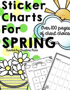 Printable sticker charts are perfect for increasing motivation with your students! Sticker charts can help your students with goal setting, task completion, encourage positive behavior, and develop personal responsibility. They can also be used to help track and reward reading, homework assignments, and grades.