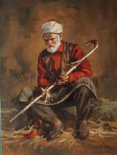 (Turkey) Turkish old man by Remzi Taskiran ). Oil on canvas. Old Portraits, Portrait Art, Figure Painting, Figure Drawing, Islamic Paintings, Turkish Art, Historical Art, Islamic Art, Figurative Art