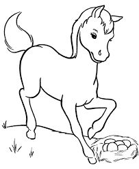 Horse Coloring Page Young On The Farm Sheets