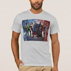 Justice League | New 52 Justice League Line Up T-Shirt - tap to personalize and get yours Justice League New 52, Shop Justice, Lineup, American Apparel, Fitness Models, Unisex, Stylish, Fabric, Cotton