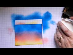 Stamp and Spritz Tutorial:  Sponge ink onto cardstock and spritz with water to create a unique background.