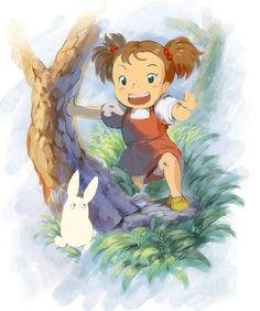 Mei and Chibi Totoro