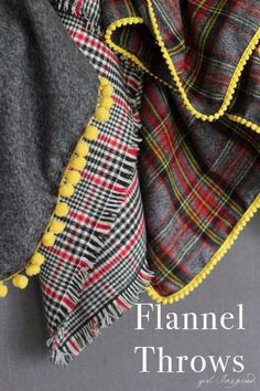 Sewing Projects for The Home - DIY Flannel Blankets  -  Free DIY Sewing Patterns, Easy Ideas and Tutorials for Curtains, Upholstery, Napkins, Pillows and Decor http://diyjoy.com/sewing-projects-for-the-home