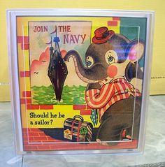 vintage elephant tissue box cover retro by buckaroosmercantile, $15.95
