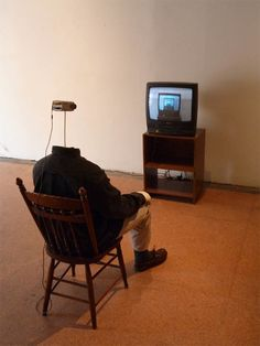 atavus:  Andy Vible - Watching Television, 2011