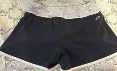 Brooks Women's running shorts Wide Waistband Mesh Liner Size Small Gray workout #Brooks #shorts