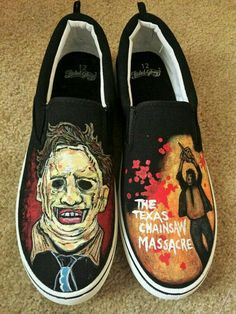 Texas Chainsaw of Massacre custom sneakers