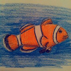 Remember my #clownfish I did using #GIMP to paint it not too long ago? Well, this is the original #sketch colored with #prismacolor and #fabercastell #coloredpencils  #art #artistic #artoftheday #drawing #drawingaday #sketchaday #sketchbook