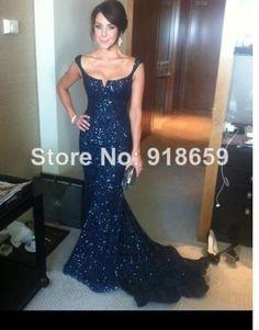 vestido New Fashion Mermaid Sequin Prom Dresses vestidos de fiesta 2014 High Quality Dress 100%