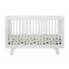 Combining mid-century and modern design elements, the charming Babyletto Hudson 3-in-1 Convertible Crib makes a bold statement. The baby crib has four mattress heights and a toddler rail.