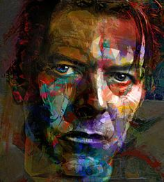 David Bowie Painting - Chameleon, Comedian, Corinthian And Caricature by Mal…