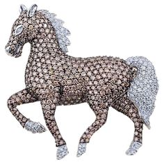 Horse Show Jumping Pewter Pin Brooch British Hand Made Pony Horse Gift Present