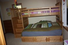 Another bunk bed idea for Bree Ann's Room - Colombia Twin on Full Bunk Bed with Stairs
