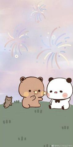 Cute Cartoon Pictures, Cute Images, Cute Pictures, Chibi Cat, Cute Chibi, Bear Gif, Cute Bear Drawings, Cute Love Gif, Cartoons Love
