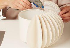 Lámpara de platos de papel
