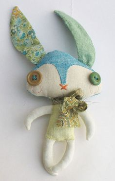 This looks like a bunny I made for my grandparents. When my cousins came to visit, they called it space rabbit and tossed it at each other relentlessly, as reported by my grandmother.