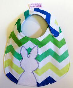Baby Boy Easter Bib, Reversible, Side Snap & Free Us Shipping. $17.50, via Etsy.