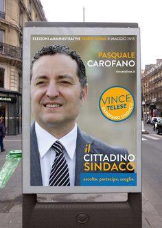 Vince Telese. Campagna elezioni comunali Telese Terme 2015. Candidato sindaco Pasquale Carofano.
