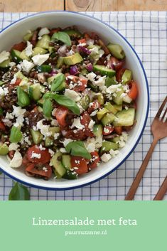 Discover recipes, home ideas, style inspiration and other ideas to try. Salad Recipes Low Carb, Veggie Recipes, Healthy Recipes, Feta Salat, Lentil Salad, Evening Meals, Paleo, Food Inspiration, Clean Eating