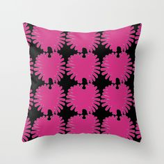Pink Daisies Throw Pillow by Georgiana Paraschiv