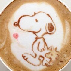 Snoopy cappuccino