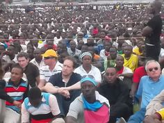 Section of the huge crowd at Jangwani ground,Dar es Salaam,Tanzania listening to leaders of opposition party Chadema during the party rally yesterday